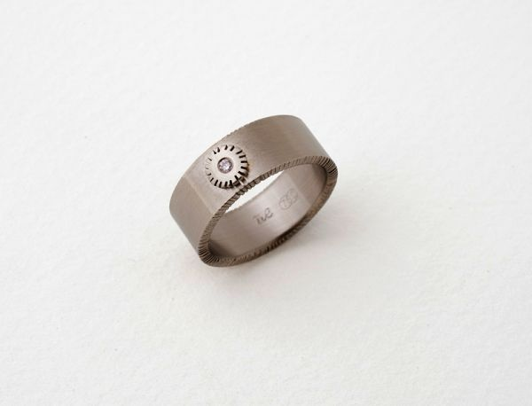 Chisel Ring- Deco Setting by Nina Ellis