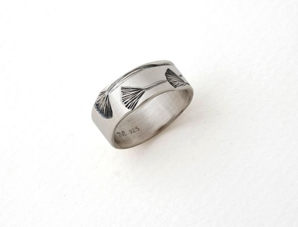 Gingko Ring- Narrow by Nina Ellis