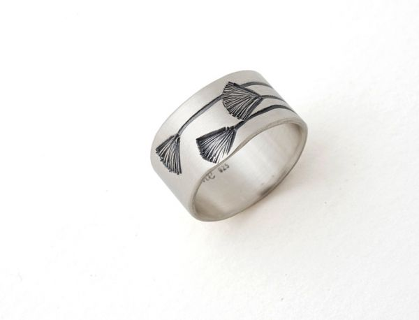 Gingko Ring- Wide by Nina Ellis