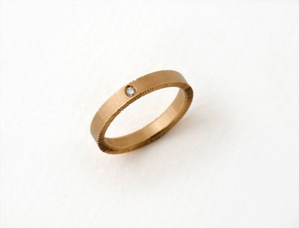 Chisel Ring- Narrow by Nina Ellis