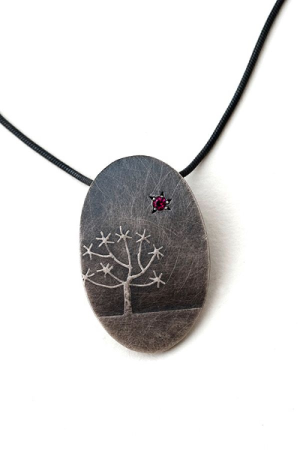 Quiver Tree Necklace- Small Oval by Nina Ellis