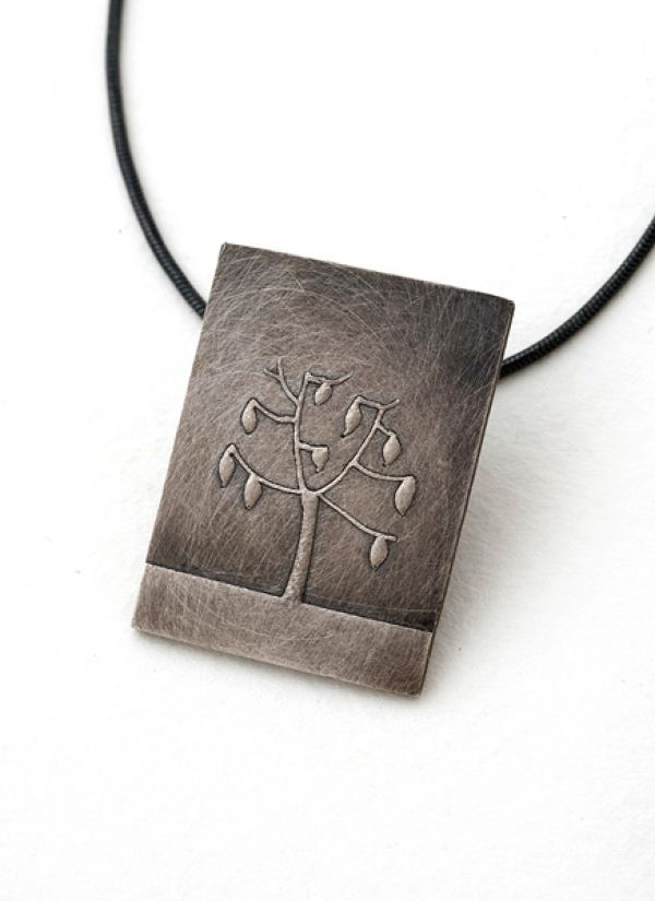Leaf Tree Pendant- Short Rectangle by Nina Ellis