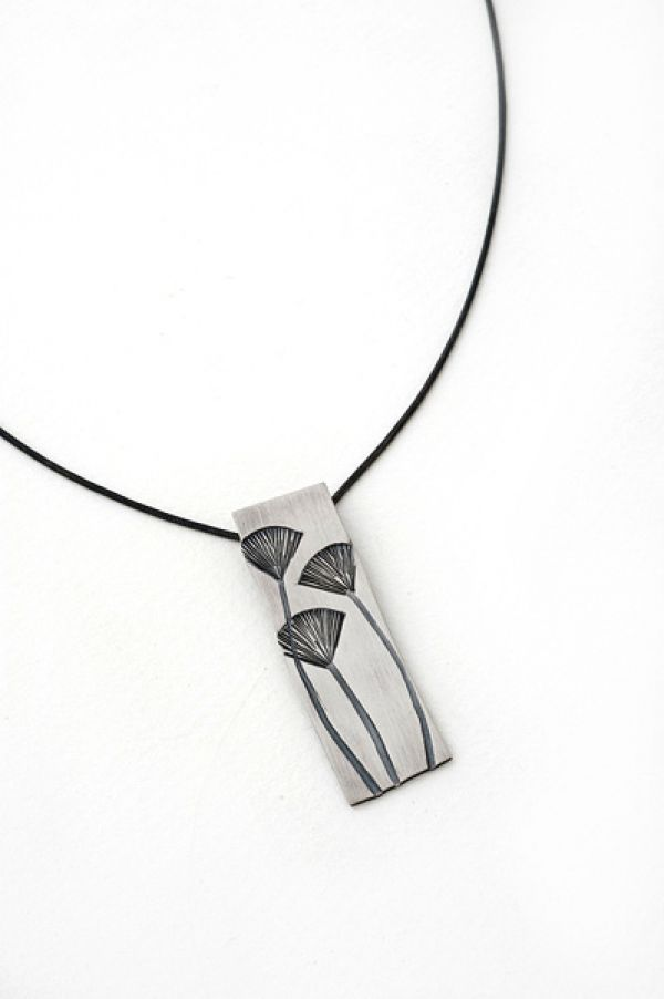 Gingko Pendant- Long Rectangle by Nina Ellis