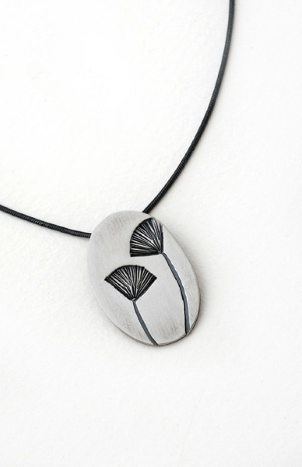 Gingko Pendant- Small Oval by Nina Ellis