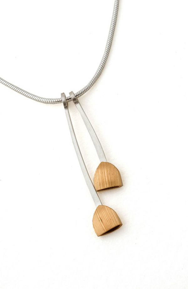 Wheat Pod Necklace by Nina Ellis