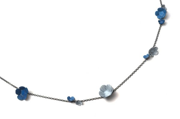 Twiggy Necklace- Blue by Nina Ellis